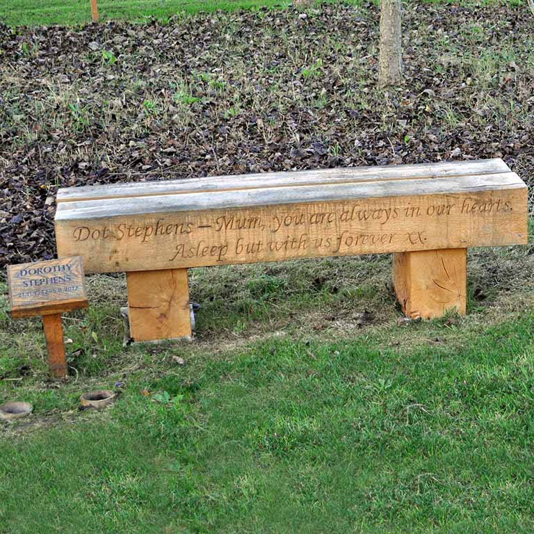 Keysoe Woodland Burial Memorial Plaques Benches And Trees
